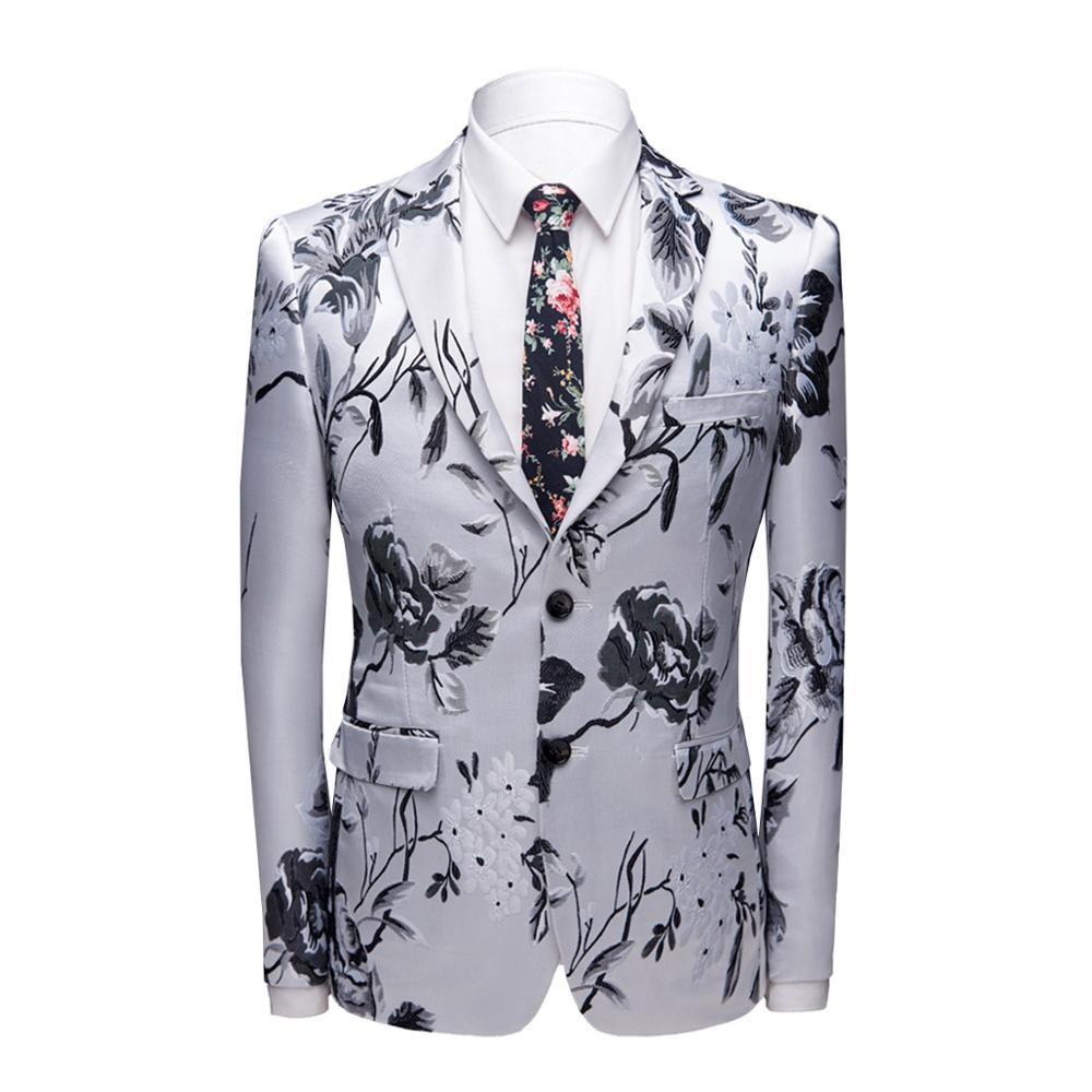 High Quality Stylish Men's Floral Suit Tuxedo Set for Weddings